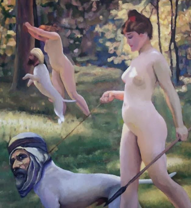 Lars Vilks painting called a rondellhund.