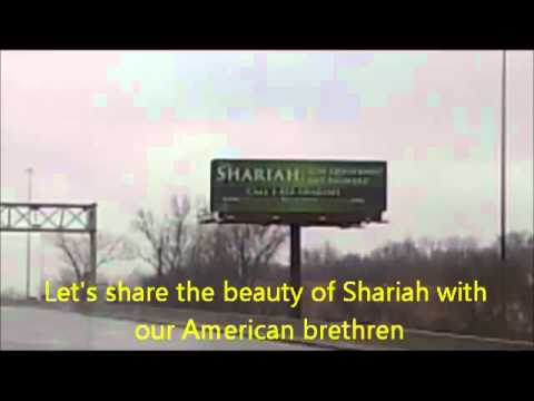 MUSLIM PRESURE GROUPS ARE PUSHING FOR SHARIA IN BILLBOARDS ALL OVER AMERICA
