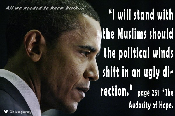 obama the audacity of hope I will stand with the Muslims
