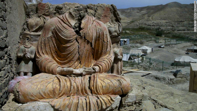 Buddhist site in Afganistan -afghan-copper mining-