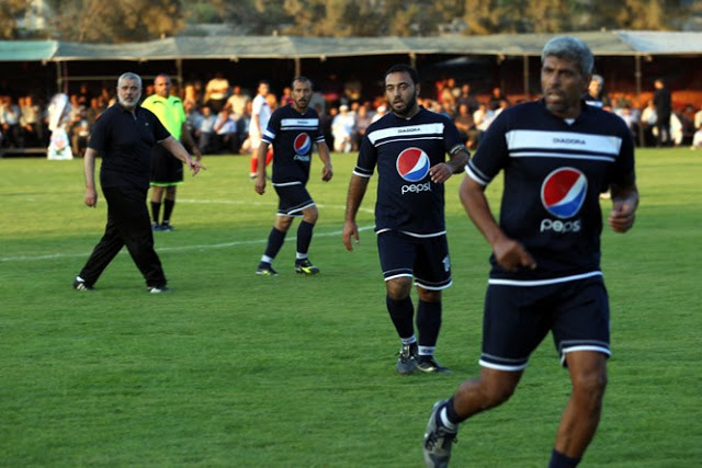 That's Haniyeh on the left. But why is Pepsi sponsoring a soccer team that the U.S. Government has placed on its terrorists list - Hamas?