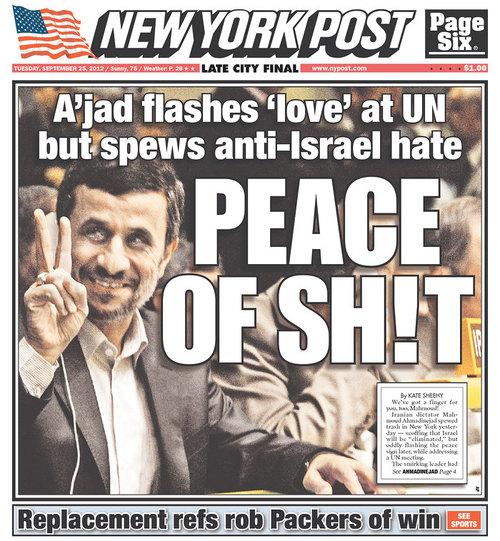 NYPost Ahmadinijad