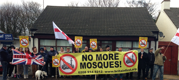 Britain First Southend anti-mosque protest
