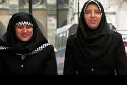 Muslim women can work as police in the UK where they have specially designed hijab uniforms for them