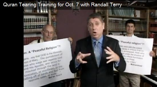 On September 11, 2010, Anti-Islam activists including Randall Terry held a Qur'an tearing protest by four people in front of the White House that gathered local and international news media attention.