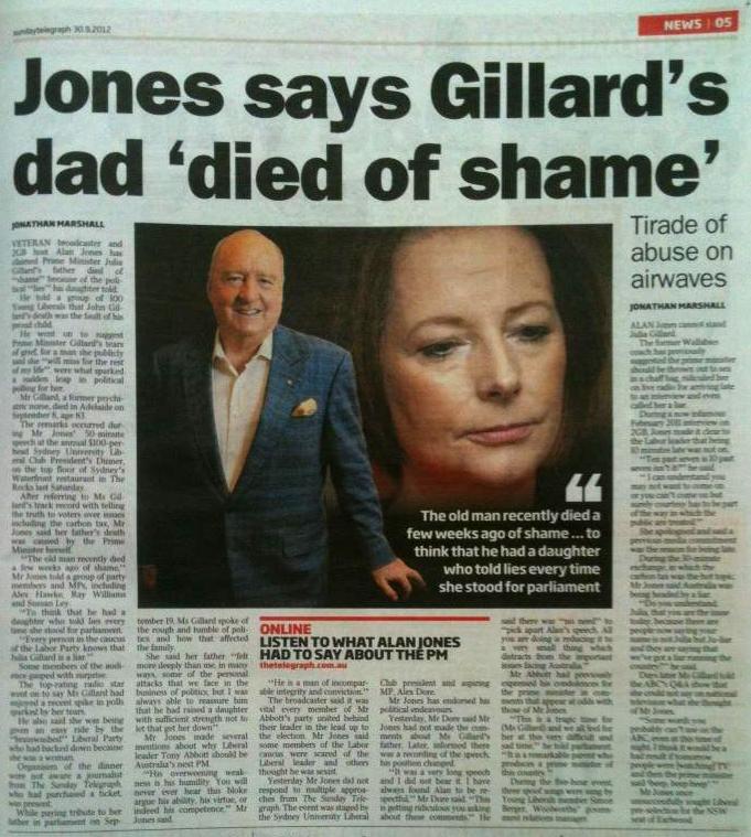 alan jones die of shame