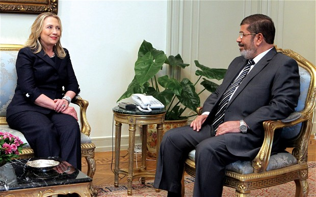Hillary Clinton can't seem to stop gushing over Mohamed Morsi