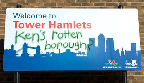 Tower+Hamlets+Ken's+Rotten+Borough+sign