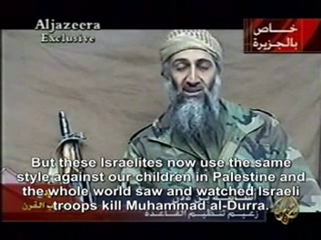 Al-Jazeera put Osama bin Laden on air to promote slander proven to be untrue against Israel