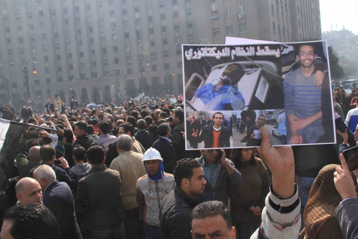 Funeral for 2 anti-amorsi Egyptian protesters killed by torture