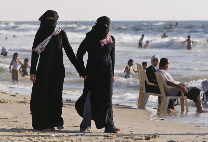 Women's attire on public beaches in Gaza is strictly enforced by sharia police