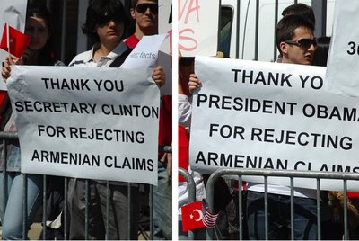 Turks thank Obama and Clinton for refusing to recognize the Armenian Genocide by Muslims