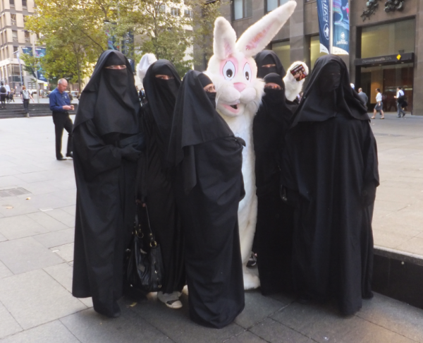"What do you wanna bet these bagheaded wonders have no idea that this is the ""Easter"" Bunny?"