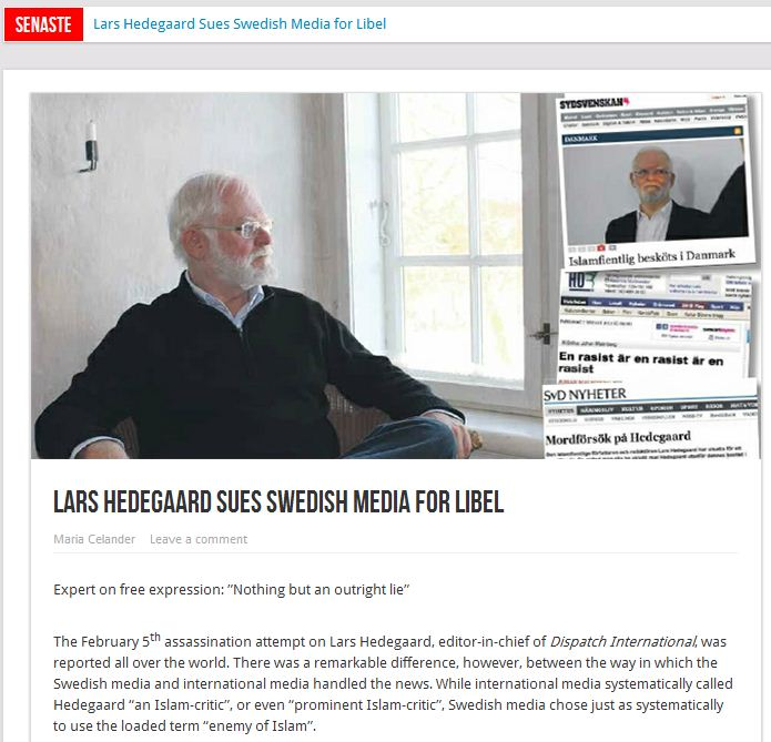 Lars-Hedegaard-sues-Swedish-media-15.2.2013
