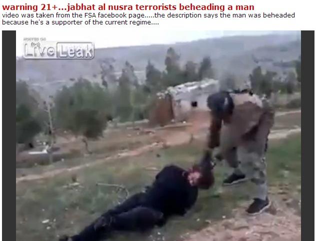 syrian rebel beheading