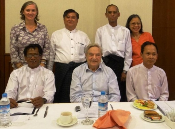 Billionaire George Soros is back in Burma again, asking human rights activists and ethnic leaders how he can channel his aid to better help the country transition smoothly from decades of military rule.