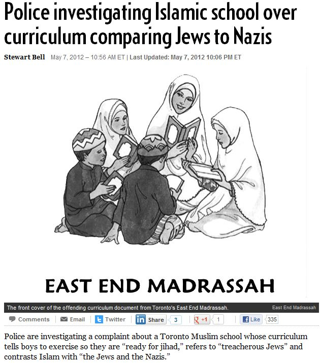 TORONTO-MADRASSA-EQUATES-JEWS-TO-NAZIS-8.5.2012