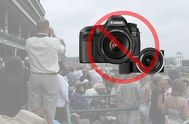 If you're planning to attend the Kentucky Derby early next month, you might want to make sure you'll be content with capturing your memories with a smartphone or point-and-shoot. Churchill Downs, the racetrack that hosts the famous horse race, has unveiled new security measures that will prevent attendees from bringing certain items onto the grounds. Among them: all interchangeable lens cameras.