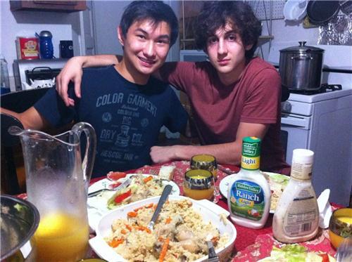 photo found on the VK page of Dias Kadyrbayev shows Kadyrbayev, left, with Boston Marathon bombing suspect Dzhokhar Tsarnaev