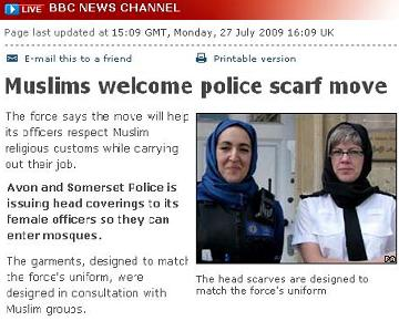 Headscarf burqa hijab allowed in Britain, banned in India!