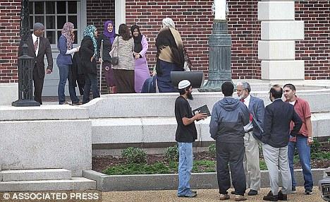 Sherifi's Muslim fan club outside courtroom