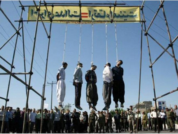 Homosexuals being hanged for being homosexual in Iran