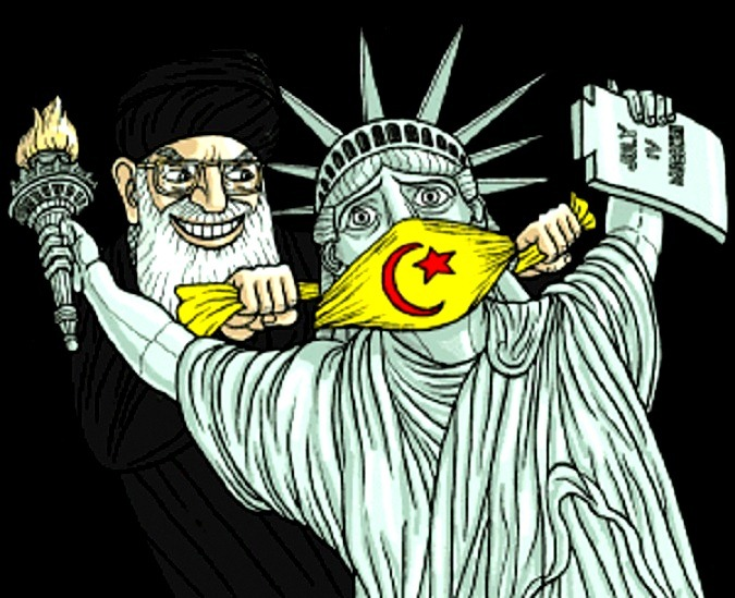 muslim-cleric-gags-lady-liberty