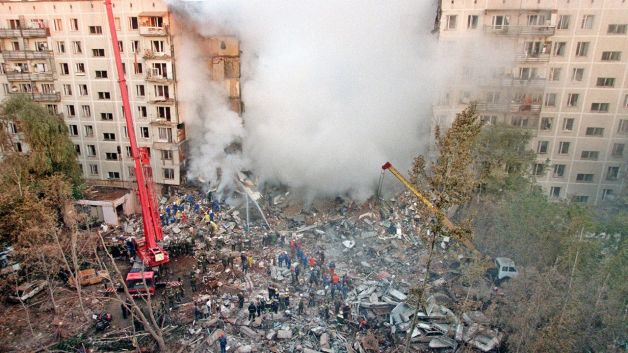 Moscow apartment building bombing by Chechen Muslims