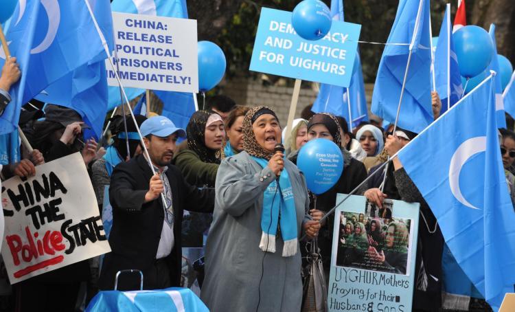 Uyghurs_protest