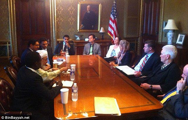 Sheikh Abdullah Bin Bayyah posted this photo of his June 13 White House meeting.