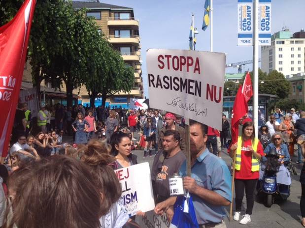 'Anti-racism' Left Wing Fascists stage a counter protest