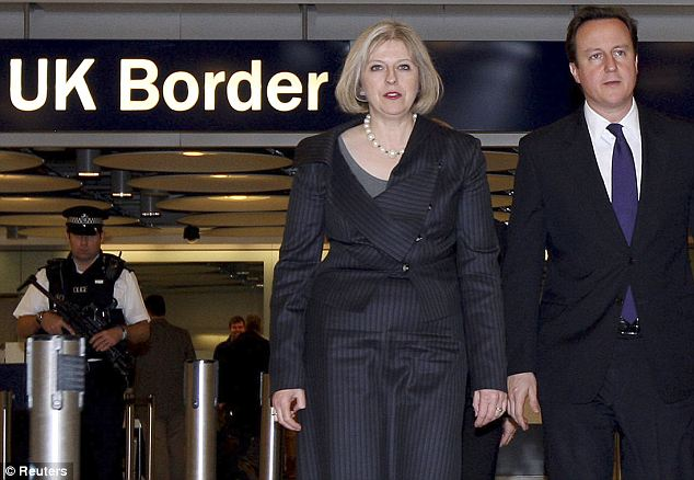 HOME SECRETARY THERESA MAY AND PM DAVID CAMERON, CHIEF SHARIA ENFORCERS