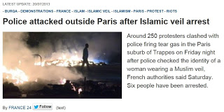 France 24 Police Attacked 20130720-1