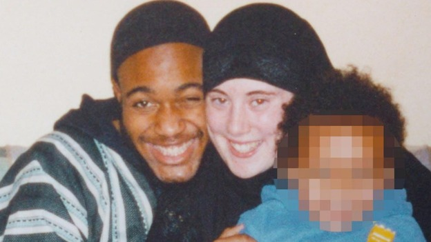 Samantha Lewthwaite and Jermaine Lindsay pose with their son.