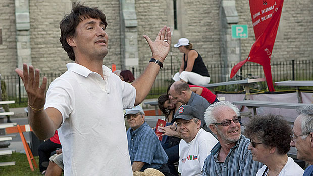 Far Left Liberal Leader Justin Trudeau says a proposed ban on religious symbols and the wearing of religious garb by public sector workers in Quebec would damage the province's reputation.