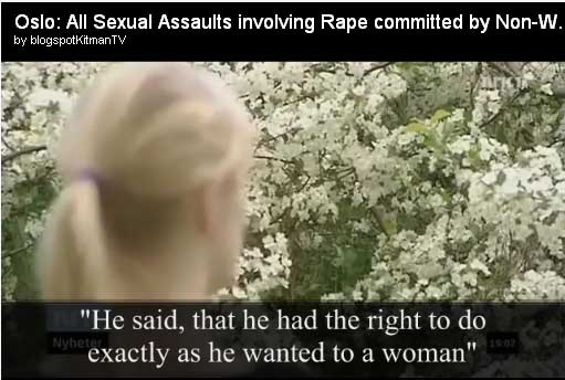 Virtually ALL rapes of Norwegian women are by Muslim immigrants