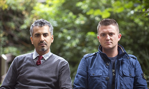 Maajid Nawaz and Tommy Robinson, new besties