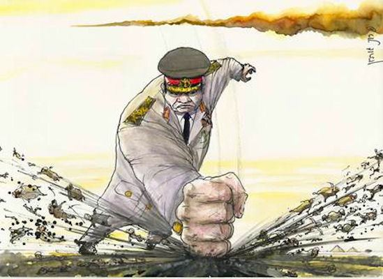 """General Sisi says, """"Bring it on!"""""""