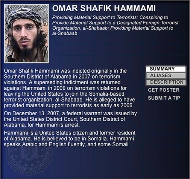 Hammami has been reported to have been killed recently by al-Shabaab but is unconfirmed