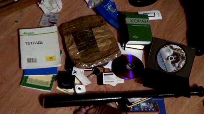 Materials seized in raid