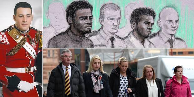 Lee Rigby, left, 2 Muslim savages, top, Rigby family, bottom