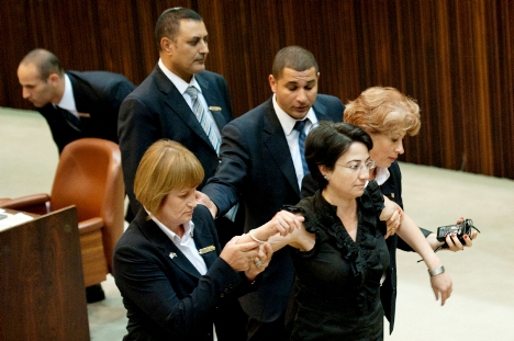 Zoabi has been escorted out of the Knesset on more than one occasion for her filthy mouth