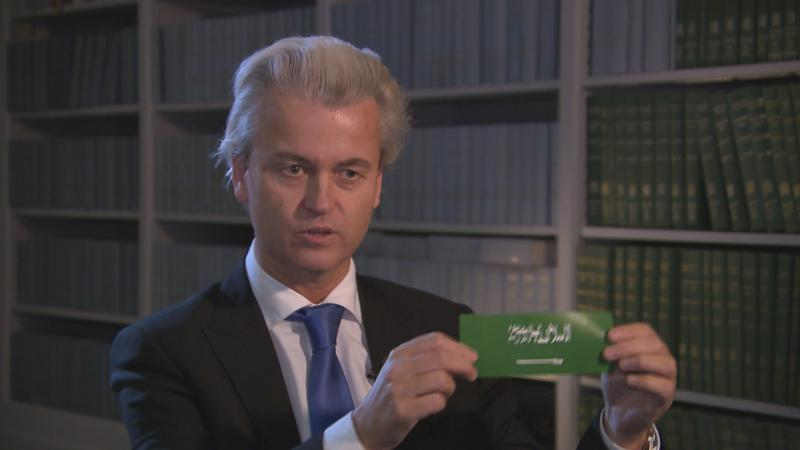 Wilders-with-anti-Islam-sticker