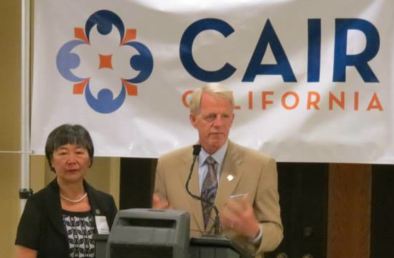 Assemblymembers Mariko Yamada and Roger Dickinson at a terror-linked CAIR California event.