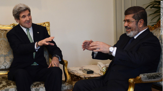 Kerry and ousted president Mohamed Morsi of the Muslim Brotherhood  became fast friends