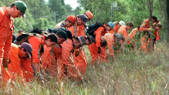 Australian searchers looking for the dismembered parts