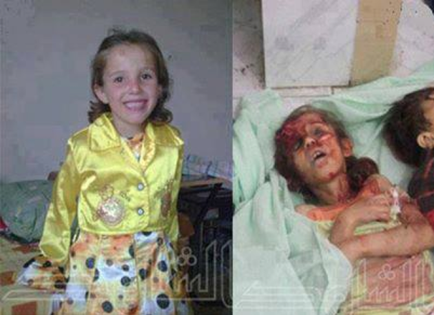 Christian girl who was raped, tortured and murdered by Saudi jihadists and others who had come to Syria to help install an Islamic emirate there.