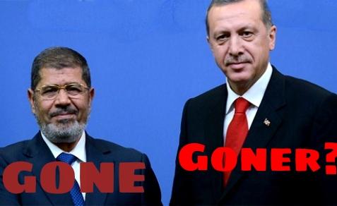 Mohamed Morsi (L), Tayyip Erdogan (R)