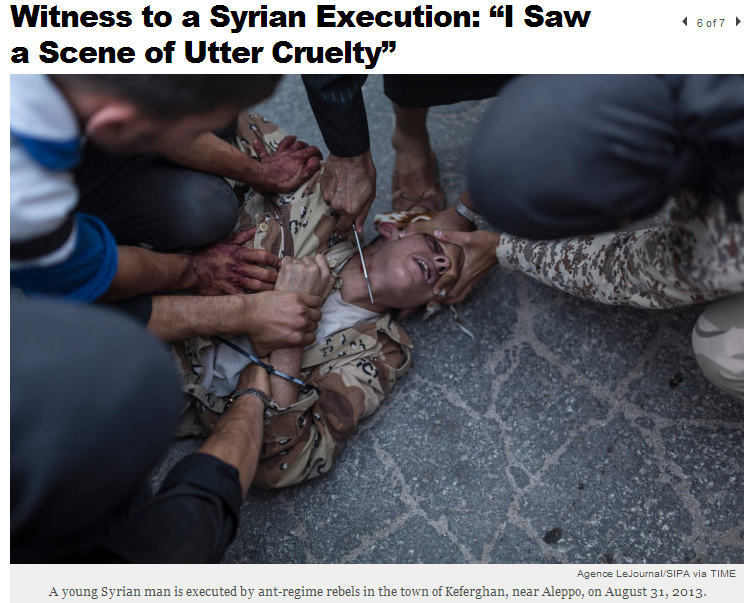 syrian-rebel-jihadis-execute-regime-soldier-by-decapitation-13-9-2013