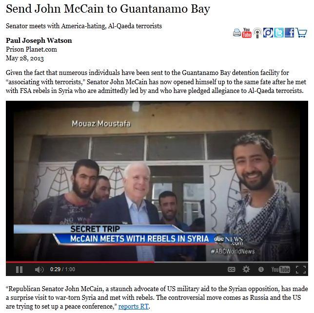 McCain MEETS with AL QAEDA TERRORISTS IN SYRIA, MAY 2013